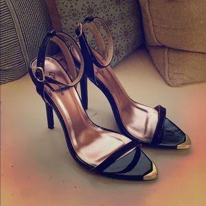 Qupid open toe stiletto heel
